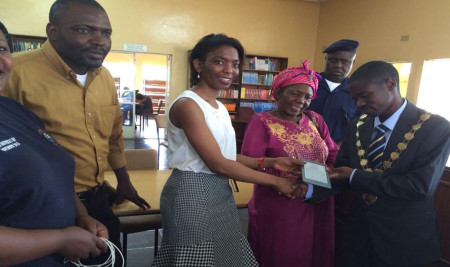 BFZ Donates e-Readers to Helen Kaunda Library