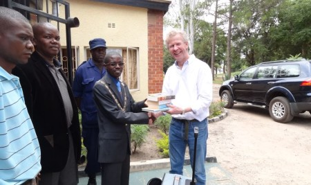 Luanshya Mayor accepts donations from Brian Johnson